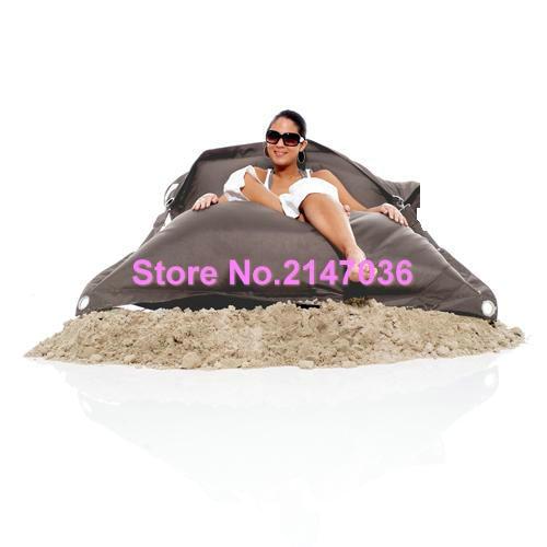Dark Grey Color Outdoor Furniture Bean Bag Chair, Buggle Up Beanbag Sofa Seat - Kpecno Chair