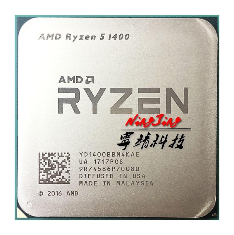 AMD Ryzen 5 1400 R5 1400 3.2 GHz Quad-Core CPU Processor YD1400BBM4KAE Socket AM4