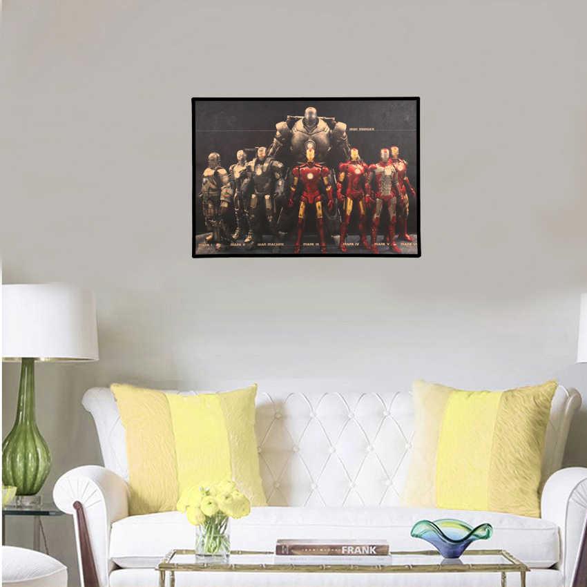 Marvel Hero Iron Man Vintage Kraft Paper Classic Movie Poster Home Decor Wall Decoration Art Poster Painting 51X36cm