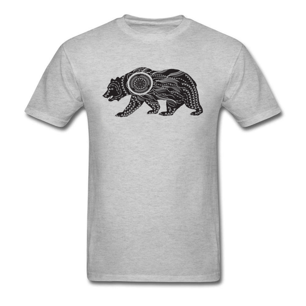 Ornamental Bear Tee Shirt Men 39 s T shirt 2018 Fashion Design Tops Shirt Summer Autumn Cotton Fabric Tshirts Custom Casual Sweater in T Shirts from Men 39 s Clothing