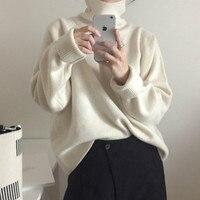 Women Autumn Winter Turtleneck Sweater Jumper Knitted Pullover Tops Elegant Plus Size Pull Femme jesery sueter feminino