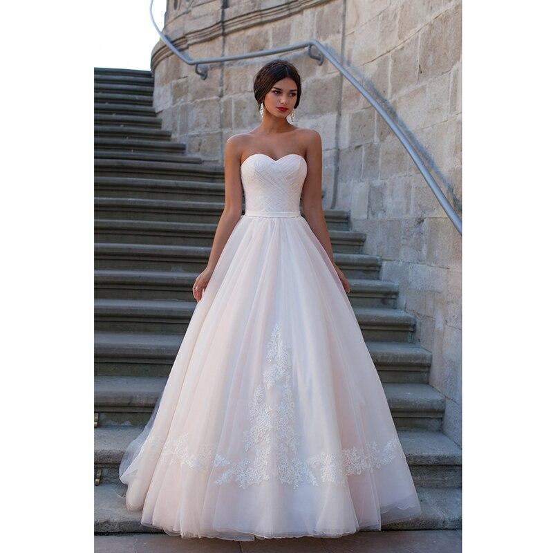 Simple Empire Waist Ivory Tulle Beach Wedding Dress