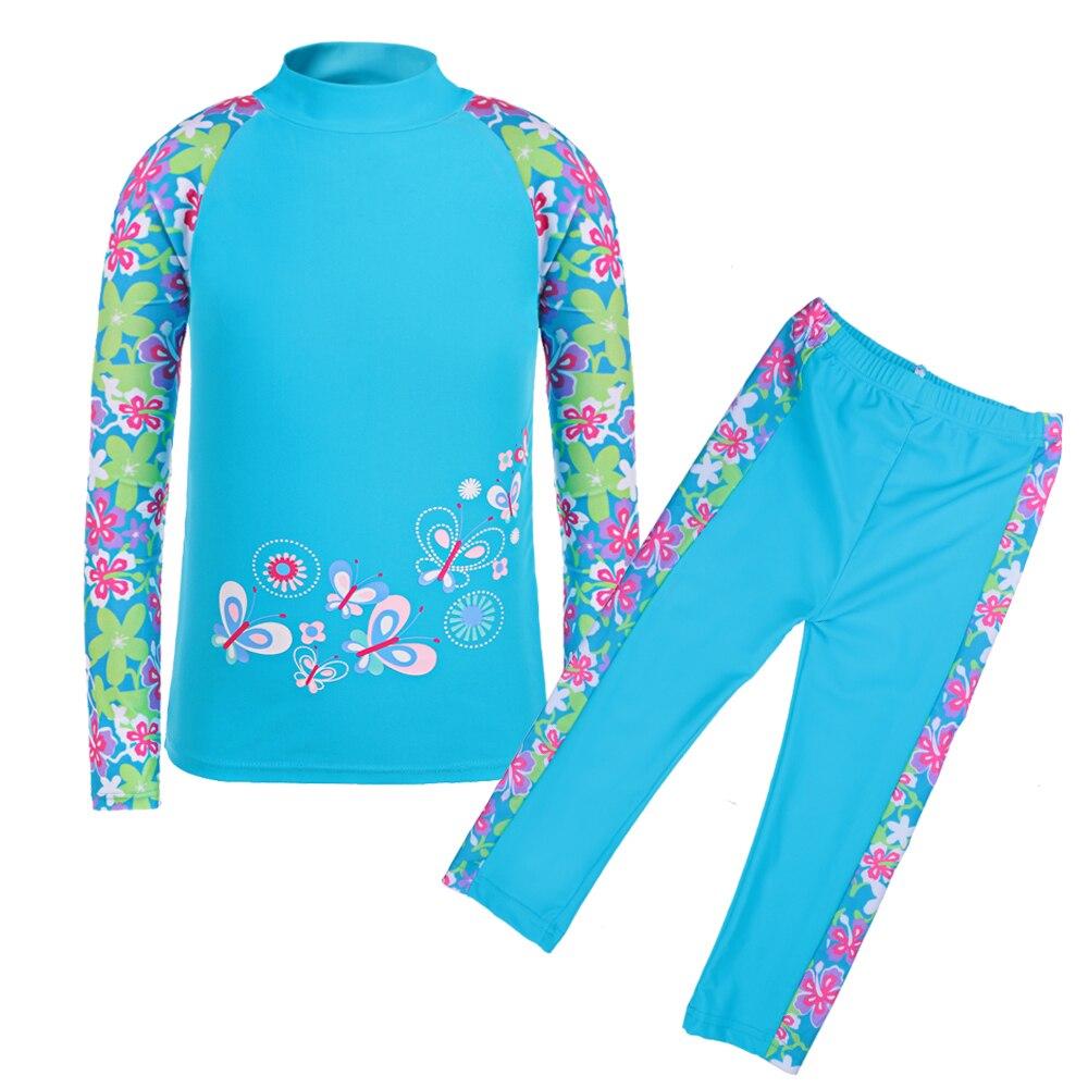 4-9Y Meisjes Badmode Kinderen 2 Stks Badpak Polyamide Print (UPF 50 - Sportkleding en accessoires