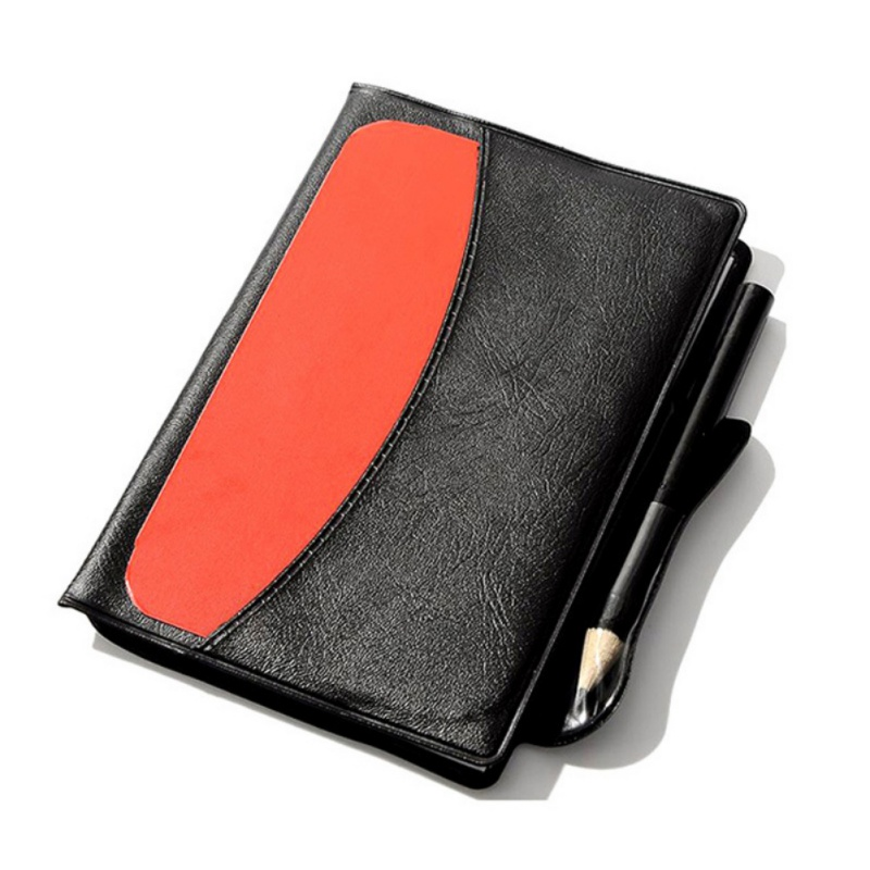 New Referee Football Red / Yellow Cards Notebook Leather Case With Pencil Soccer Ball Record Penalty Card For Football Match
