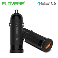 FLOVEME Universal QC 3 0 Car Charger For Mobile Phone Adapter Fast Charging 1 USB Mini