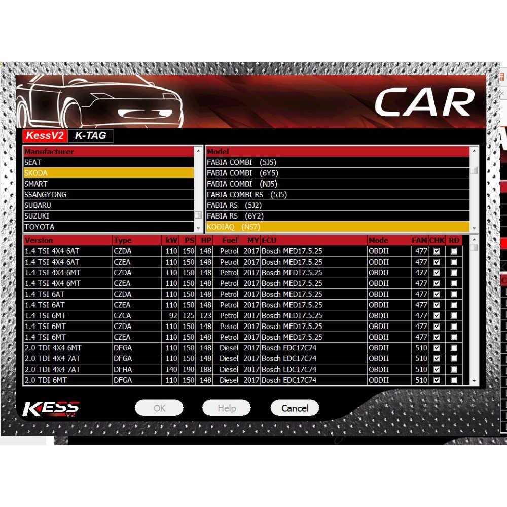 Versi Terbaru Ksuite Kess V2.47 Lebih Baik dari SW V2.23 untuk Kess V2 V5.017 ECU Tuning Kit ECU Chip Tuning Alat menambahkan Lebih Banyak Protokol