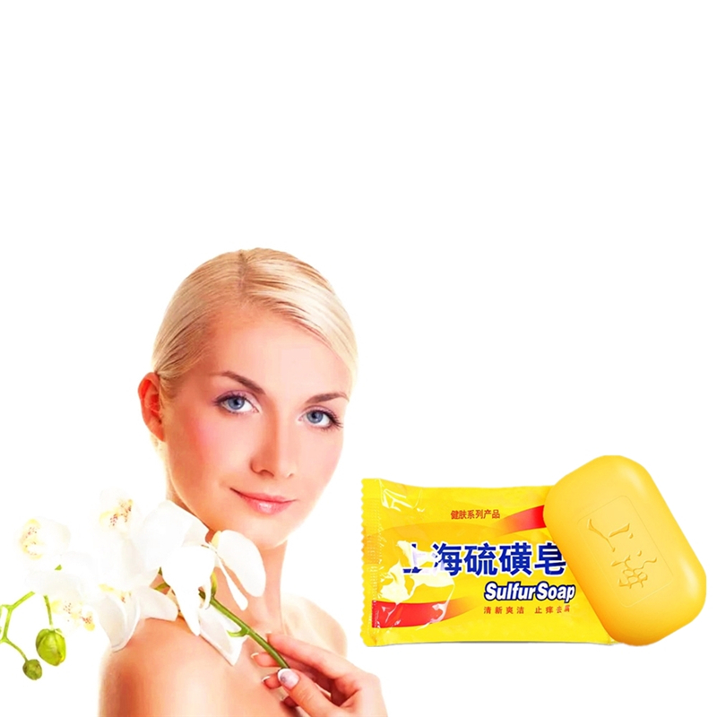 2019 New Health Care Shanghai Sulfur Soap Acne Psoriasis Seborrhea Mite Health Beauty Care Soap For Face Care