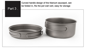 Image 5 - APG 2016 newest ultralight titanium pan and outdoor camping titanium pan enhancing the body resistance