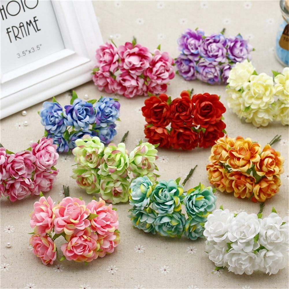 60 buc / lot Buchet de trandafiri de mătase Flori artificiale pentru - Produse pentru sărbători și petreceri