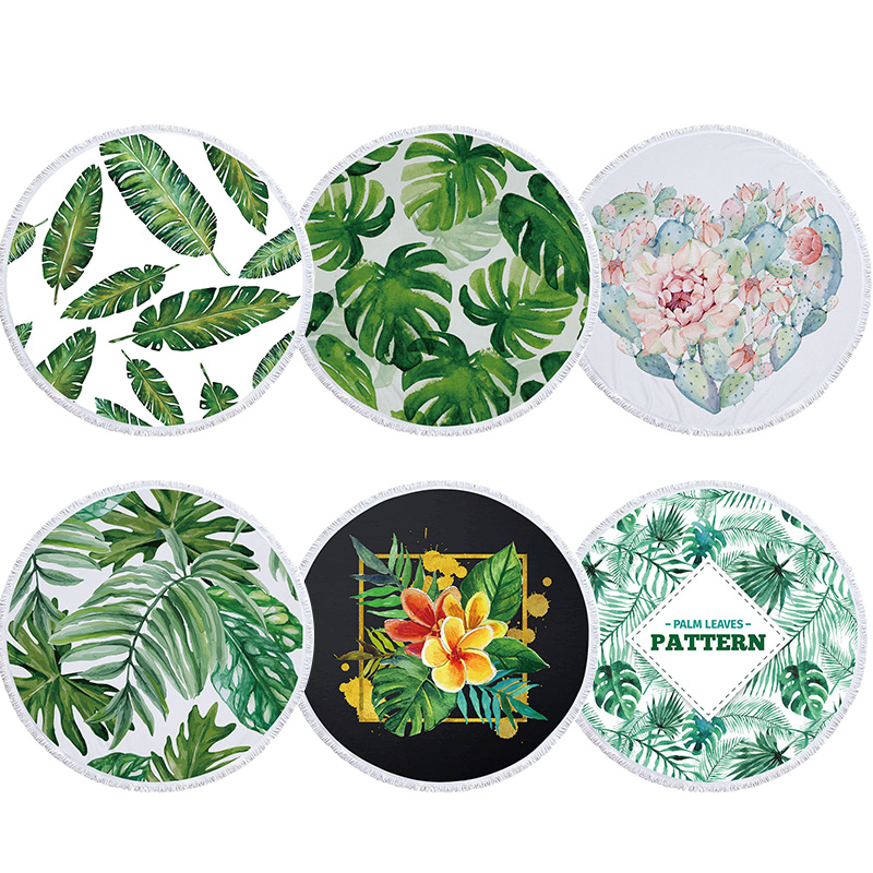 Aliexpress.com : Buy Round Large Beach Towel Floral