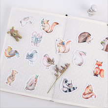 45 pcs/lot cute forest animal mini paper sticker kawaii DIY Decoration Stickers Sealing stickers stationery