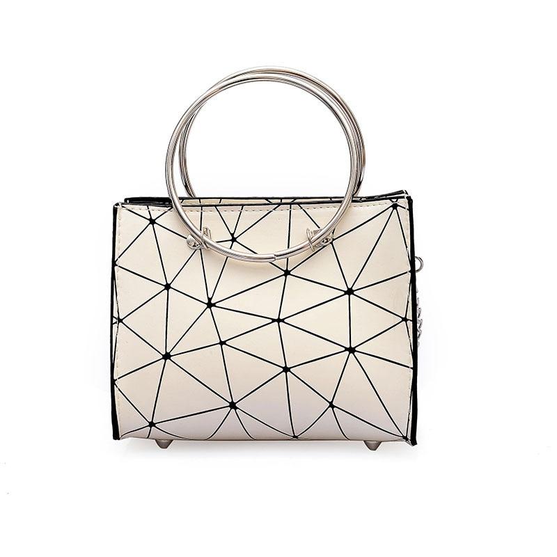 2019 new transparent shoulder bag Korean version of the chain wild rhombic slung female bag small square bag 5