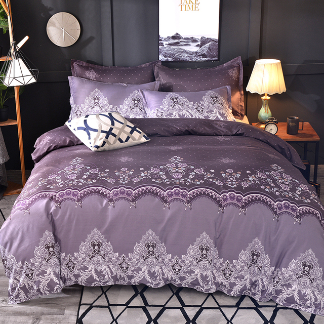 Luxury Lace Solid Bedding Set