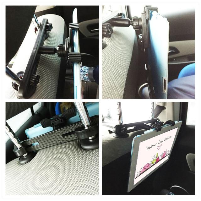 Uniwersalne tylne siedzenie samochodowe stojaki na tablety mocowanie zagłówka do ipada 2018 Pro 9.7 Air 1 2 Mini Samsung Xiaomi stojak pod pc lub tableta Holder