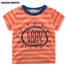 Kids Short Sleeve T Shirts Boys 2017 Summer Striped Cotton Modal Tops Children's Clothes Baby Boy T-Shirt Tee 2-7Y