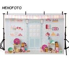 Şeker çubuğu dondurma salonu kutlama arka plan bebek 1st doğum günü çörek parti afiş fotoğraf Backdrop fotoğraf kabini