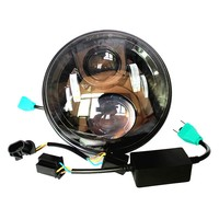 Pair 7 Auto LED Headlight Car Accessories Daymaker Projector H4 Hi Lo Beam Headlamp For Jeeep