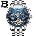 Original BINGER Männer Mechanische Uhren Männer Luxus Marke Voller Stahl Wasserdicht 30m Business Automatische Armbanduhren Für Männer