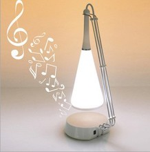 1 piece Touch Sense Desk Lamp with Speaker and Bluetooth,Music Night Lamp With Speaker in Retail Box,Free Shipping