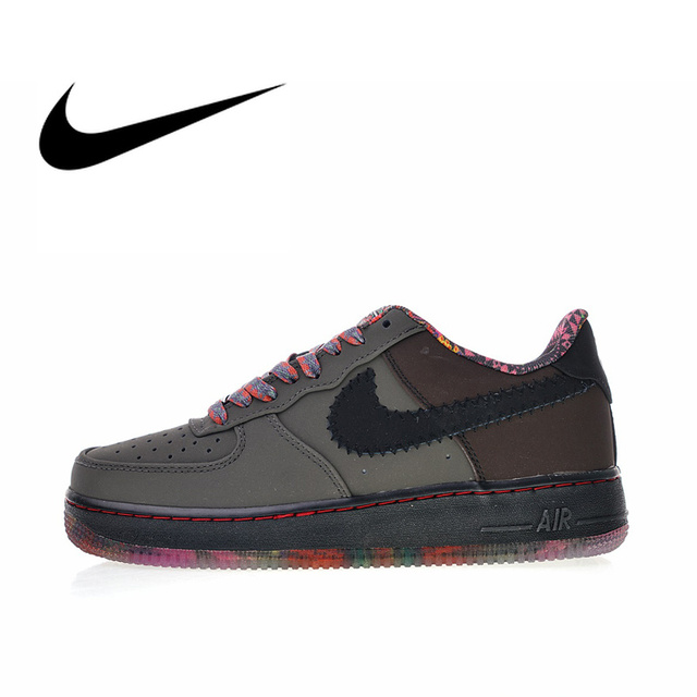 Original Authentic Nike Air Force 1 Premium Black History Month Men's Skateboarding Shoes Sport Outdoor Sneakers 2018 New 453419