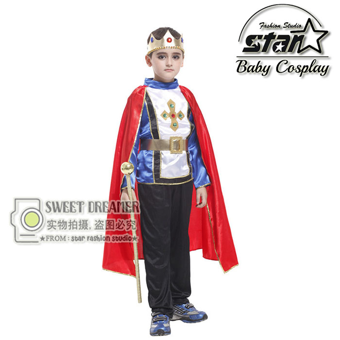 4-12T 5pcs/set Children Boys Prince Halloween Costume Cosplay King Costumes Kids Prince Nicholas Birthday Theme Party Clothes halloween costumes for children boys kids cosplay costume fantasia disfraces game uniforms kids clothes set