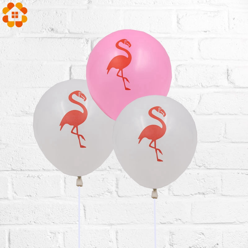 10PCS 10Inch Pink &White Flamingo Latex Balloon Birthday Wedding Baby Shower Pool Party Decor Bachelorette Hen Party Supplies