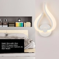 LED Indoor Wall Light Surface Mounted Bedside Lamps Modern Acrylic Sconce Lighting For Living Bed Room