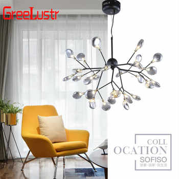 Nordic Loft Branch Tree Design LED Chandelier Lighting lamp Modern Glass Leaf Pendant Lamp Ceiling Luminaire Lustre Lighting