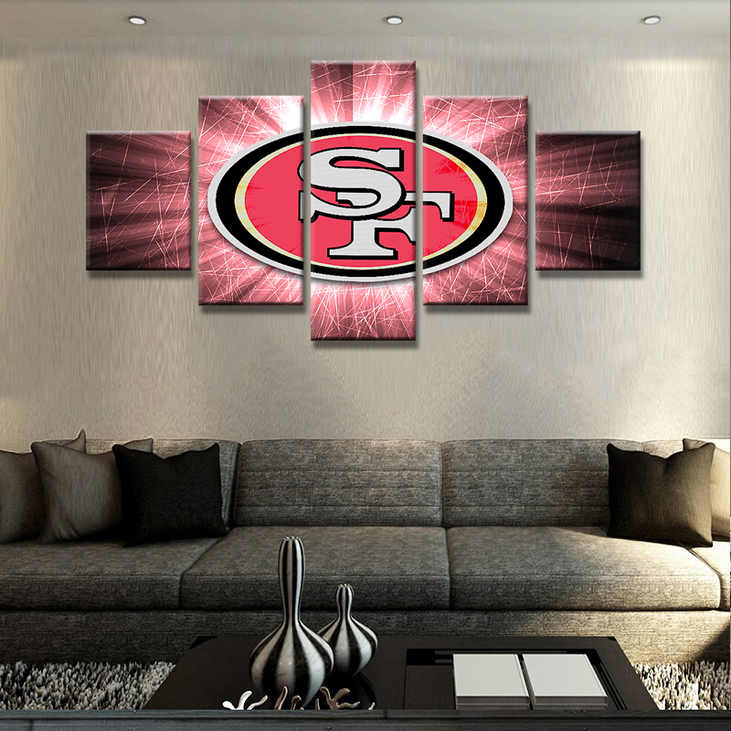 5 Panels San Francisco 49ers Canvas Oil Painting Cuadros Home Decoration Wall Art Pictures Painting For