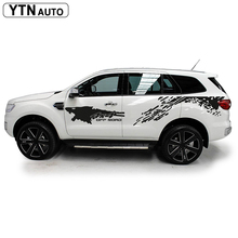 custom car stickers 4pc side body mud off road styling modified graphic vinyl decal for ford everest endeavour 2015