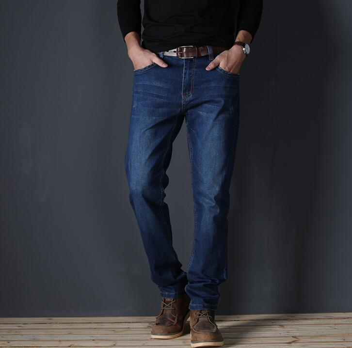 2019 Autumn Thin Top Quality Stretch   Jeans   For Men Causal Long Pants For Male Free Shipping