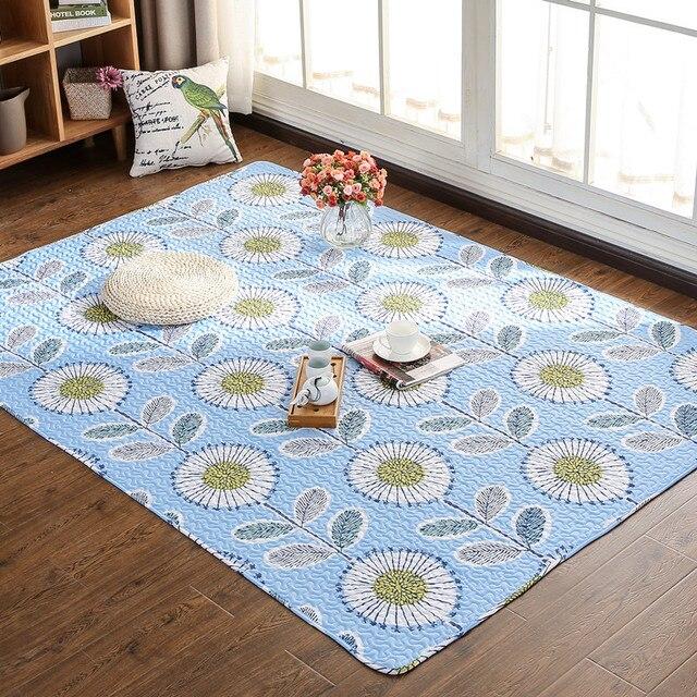 100% Algodão estilo Japonês casa rastejar sala quarto cama tapete tatami tapete não-slip mat Brinquedos Jogar Esteiras tapete engatinhando Tapete