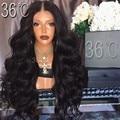 180 Density U Part Wig Unprocessed 100%Malaysian Body Wave Wig Full Lace Virgin Body Wave Human Hair U Part Wigs For Black Women