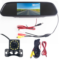 Night Vision Reverse CCD 12 LED Rear View Camera With 5 TFT Parking Monitor for opel astra h Corsa B D E
