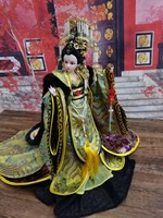 32cm Collectible Chinese Girl Dolls Vintage Empress Wu Zetian Doll Gorgeous BJD Doll With Flexible 12 Joints Body Souvenir Gifts