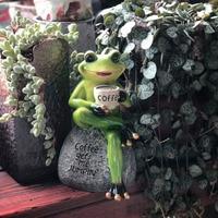 Rogs Bonsai Decorative Hang Frog Outdoor Garden Flowerpot Decor for Home Desk Garden Decor Ornament for Garden