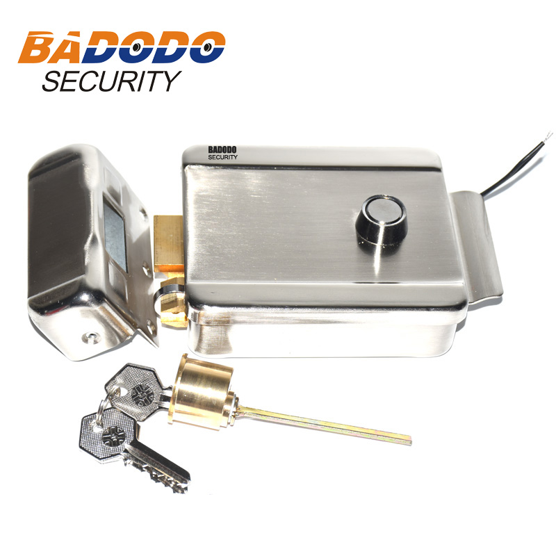 Metal Electric Gate Door Lock Secure Electric Metallic Lock Electronic Door Lock For Video Intercom Doorbell Door Access Control
