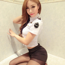 Women Sexy Erotic Outfits Sexy Lingerie Women Sexy Uniform Temptation Set Policewoman Package Hip Sh