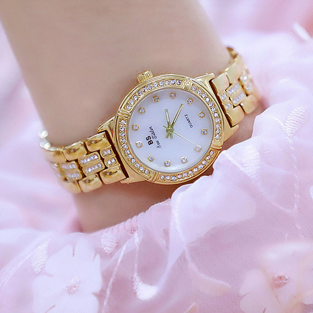 2018 New Ladies Gold Watch Women Famous Brand Watch Female Wrist Watch Girl Cloc