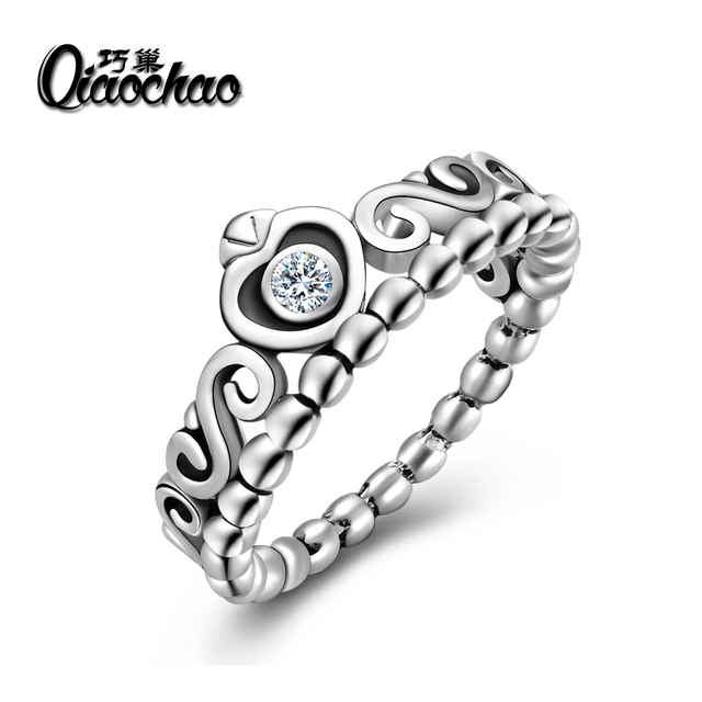 925 Authentic Silver Plated My Princess Queen Crown Ring Design