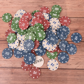 100PCS Poker Chip 4 Denomination Set for Texas Hold'em Blackjack Roulette Tournament Poker Collection Lover image