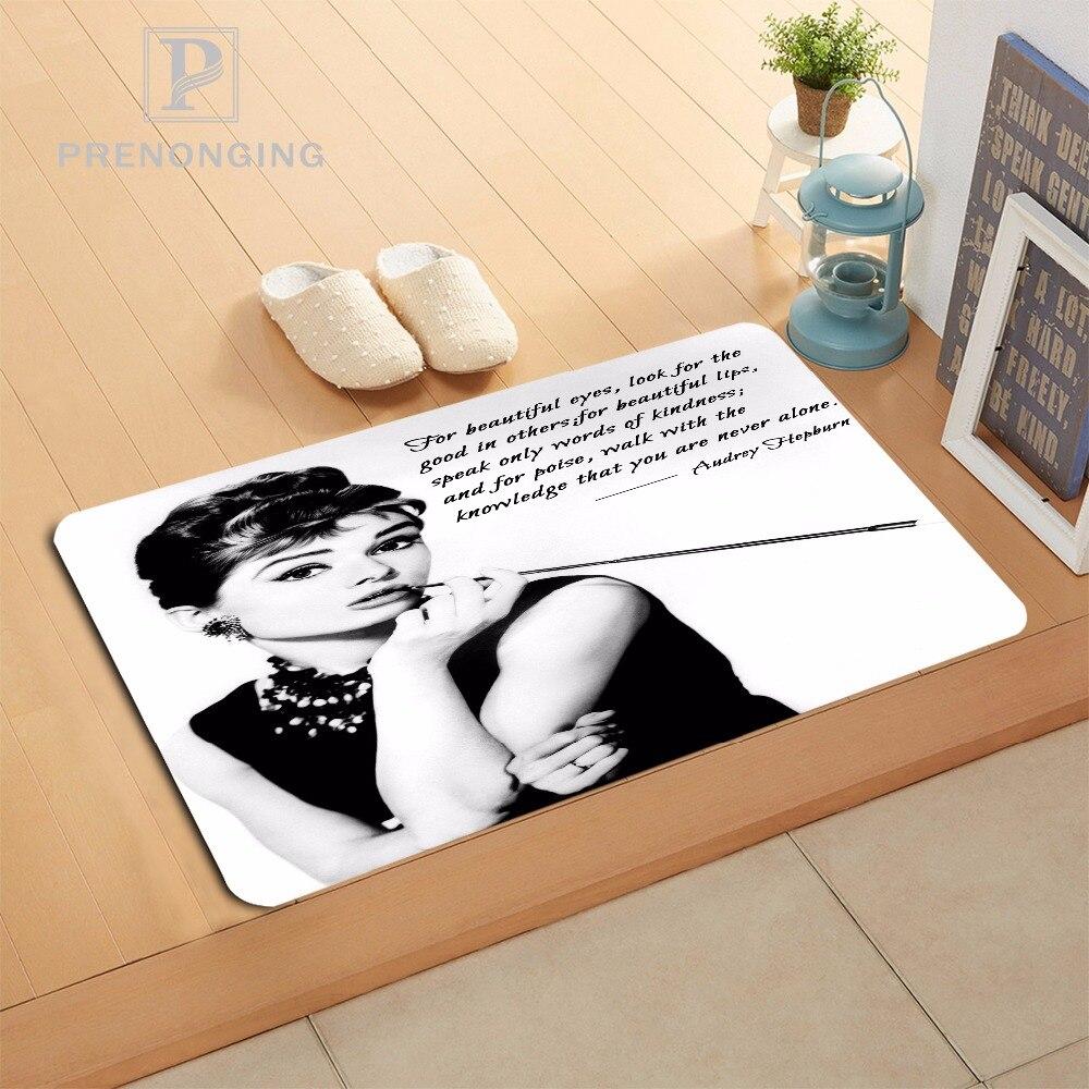 Custom Audrey Hepburn Doormat Print slip-resistant Mats Floor Bedroom Living Room Rugs 40x60cm 50x80cm Free Shipping 171120-02