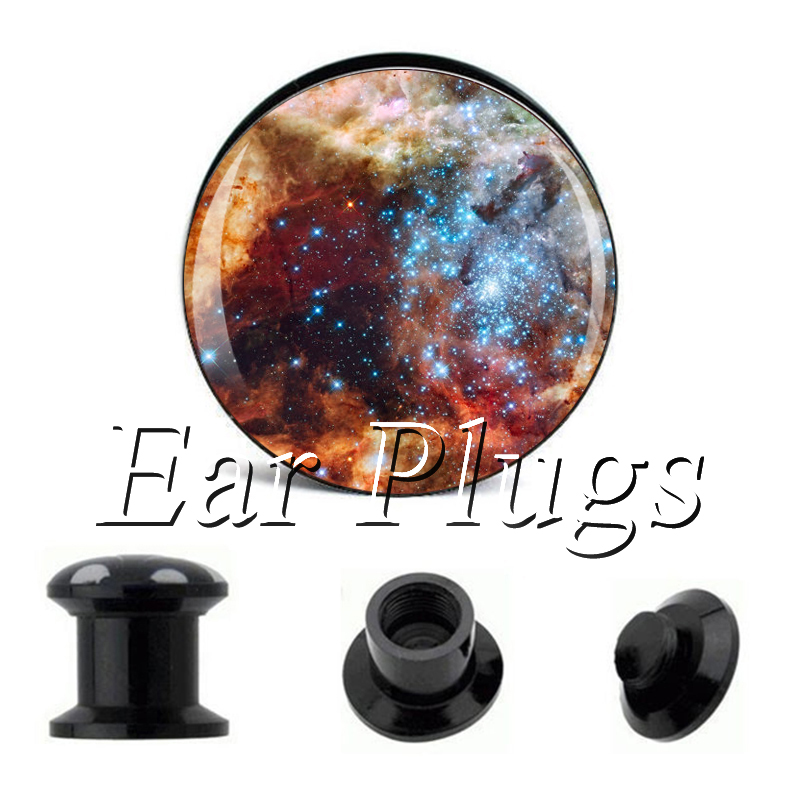 Wholesale Dusty Space plug gauges acrylic screw ear plug flesh tunnel piercing body jewelry