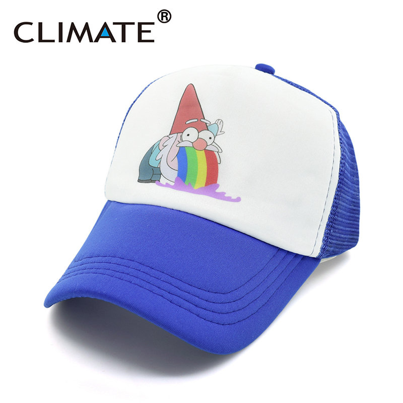 CLIMATE Gravity Dipper Mabel Pines Cosplay Mesh Trucker Cosplay Caps Hat Summer Cool Kids Boys Girls Adult U.S Cartoon Mabel Cap high quality cotton gravity falls u s cartoon animation mabel dipper fans adult kids boys girls baseball hat caps gorras planas