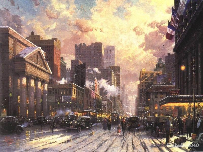 Seventh Avenue Home Decor Part - 41: Seventh Avenue Home Decor Part - 25: Prints Of Thomas Kinkade Oil Painting  New York