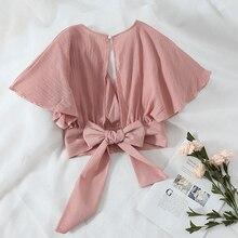 30e4cb507036423 2019 г. Ограниченная серия полиэстер простое сукно ни сплошной плюс размеры  Шеин Новая летняя блузка