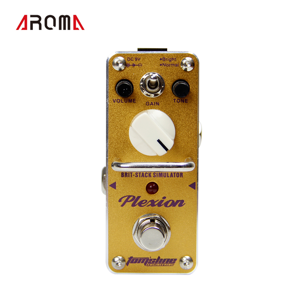 AROMA BRIT-STACK SIMULATOR  APN-3 PLEXTION  British stack sound effect  True Bypass aroma adr 3 dumbler amp simulator guitar effect pedal mini single pedals with true bypass aluminium alloy guitar accessories