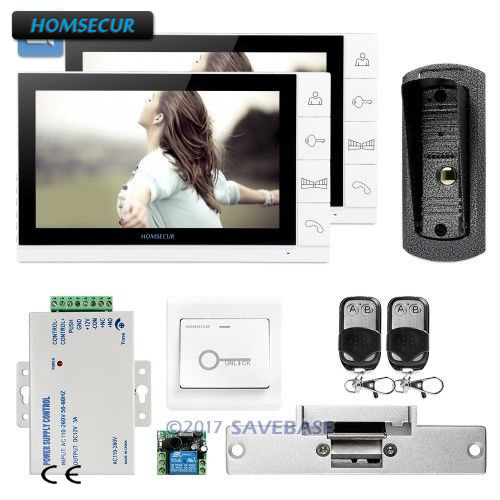 HOMSECUR 9 Video Door Entry Phone Call System+IR Night Vision for House/FlatHOMSECUR 9 Video Door Entry Phone Call System+IR Night Vision for House/Flat