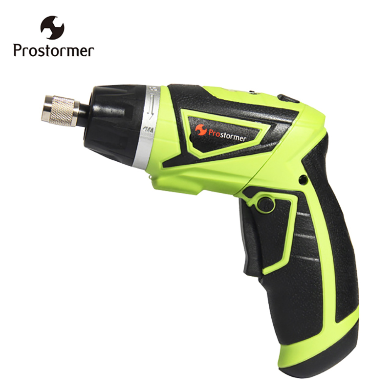 цена на Prostormer 7.2V Handheld Cordless Screwdriver with LED Lithium-ion Battery Electric Screwdriver Household Multifunction Tools