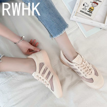 RWHK Sports shoes womens 2019 new summer wild casual flat net students breathable mesh soft bottom B380